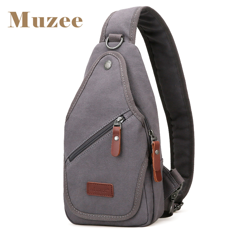 Muzee Canvas Messenger Bag Retro Leisure Shoulder bag Students Fashion Chest Bag Suit for 8 Inches Ipad muzee canvas vintage washed military messenger shoulder bag 560008
