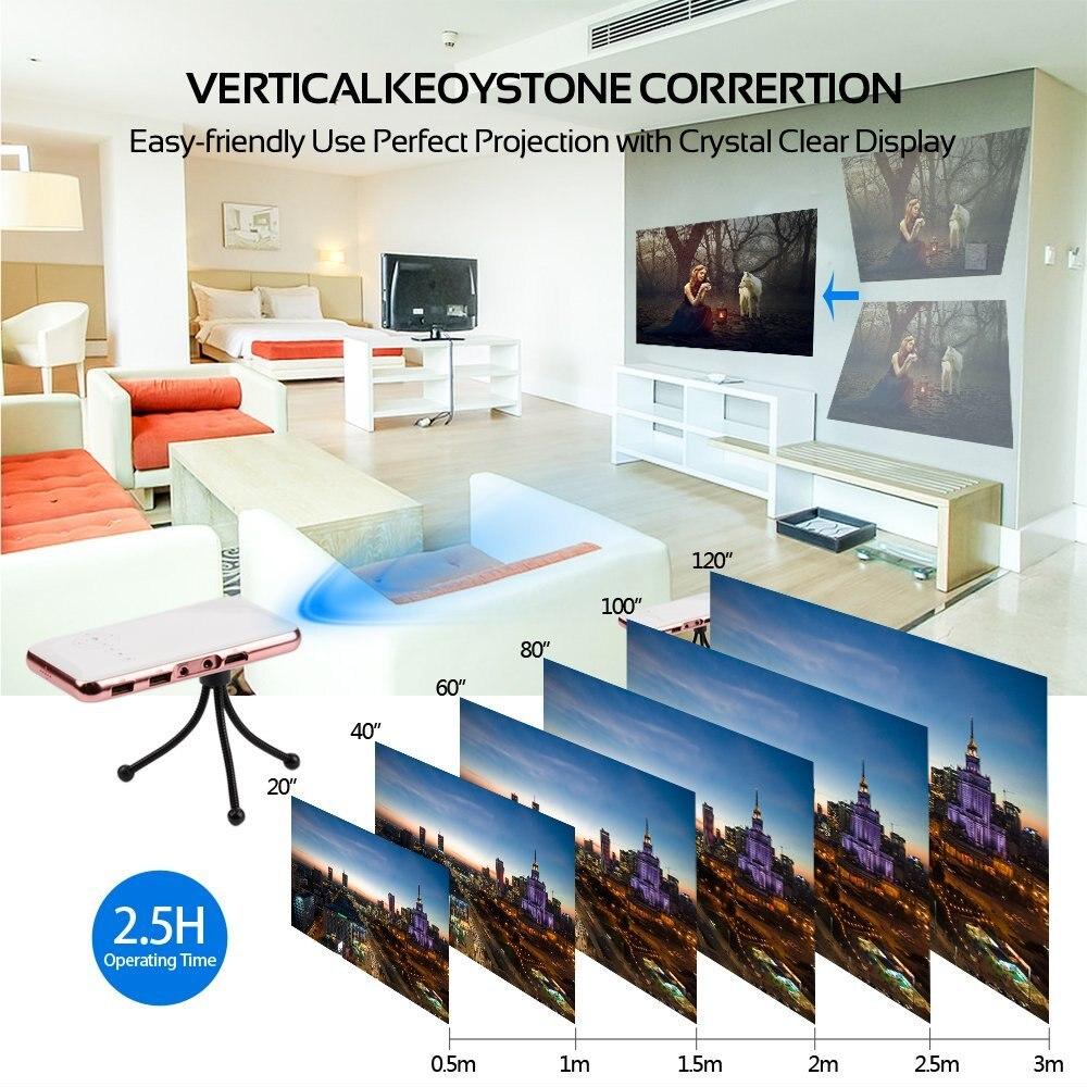 Të gjithë fitojnë Projektues mini-xhepi Projektor Celular - Audio dhe video në shtëpi - Foto 4