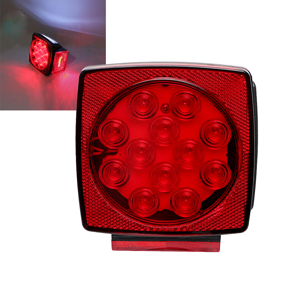 Truck Tail Lamp LED Number Plate Light License Plate Lamp Auto Rear Warning Light High Quality Car-styling Round 12LEDs liandlee for alfa romeo 156 159 166 147 led car license plate light number frame lamp high quality led lights