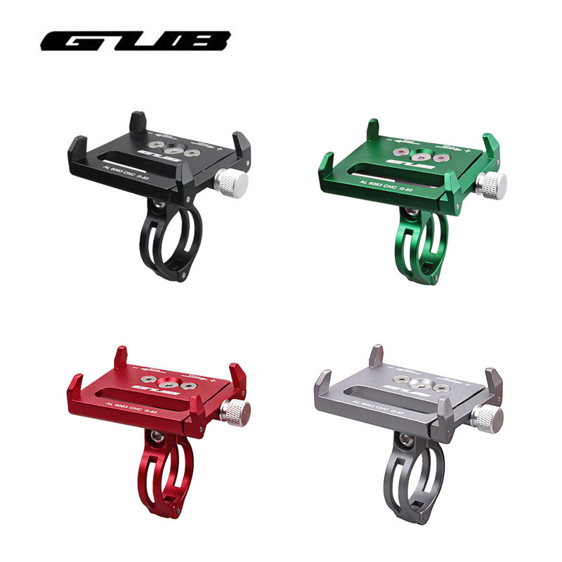 GUB Universal Bicycle Phone Stand 3.5-6.2 MTB Smartphone Adjustable Road Bike Handlebar Cell Phone Holder Mount Bracket universal cell phone holder mount bracket adapter clip for camera tripod telescope adapter model c