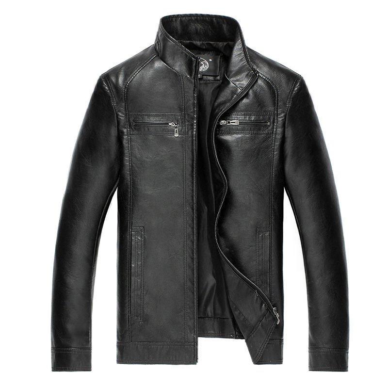 AIBIANOCEL Brand New Mens Faux Leather Jackets High Quality Pu Leather Black Brown 5XL Spring Autumn Men Leather Jaket And Coat