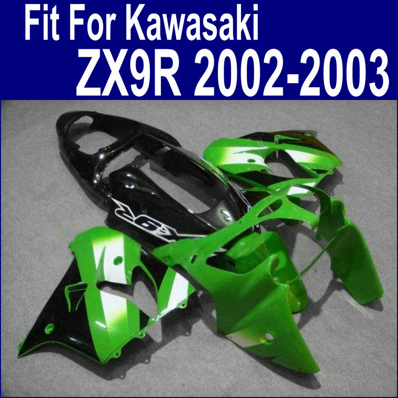 +Tank Fairings For Kawasaki Ninja zx9r fairing kit 2002 2003 02 03 Green white black Abs plastic kits xl16