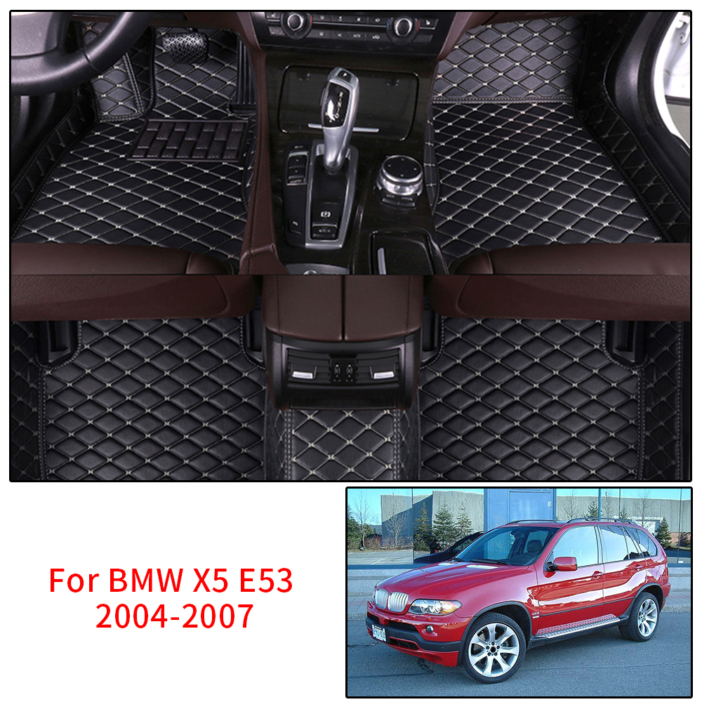 Car Floor Mats for BMW X5 E53 Custom Floor Mats 2004-2007 2005 2006 Protection Waterproof Non-slip Leather Carpet Car StylingCar Floor Mats for BMW X5 E53 Custom Floor Mats 2004-2007 2005 2006 Protection Waterproof Non-slip Leather Carpet Car Styling
