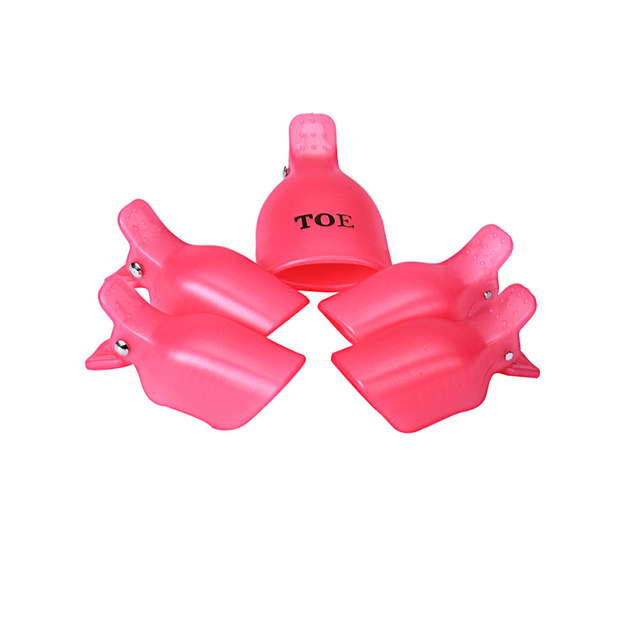 Best Deal New 5Pcs Toenail Soak Off Clip Caps Gel Nail Art Tips Reusable Clamp Remover