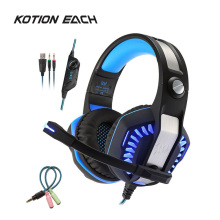купить KOTION EACH G2000 Gaming Headset Deep Bass Stereo Game Headphones with LED Light for PC Laptop Professional Gaming Headphone дешево
