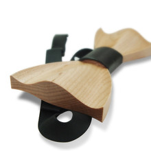 Wooden Casual Bow Tie