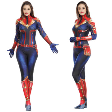 Halloween Costumes For Women 2019.Us 29 03 12 Off 2019 Movie Captain Marvel Jumpsuits Leotard Straitjacket Anime Cosplay Wonder Woman Costume Halloween Costumes Marvel Comics In