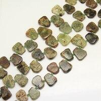 أعلى حفر كاملة ستراند الأخضر العقيق بلاطة الخرز لصنع قلادة ، الأحجار شريحة الطبيعية فضفاض الخرز الفواصل مجوهرات الحرف
