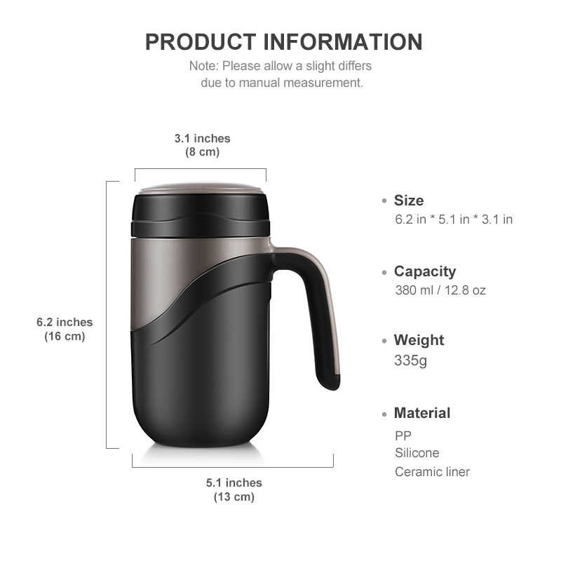 c32840c7cd7 ... 380ml Thermal Coffee Mug Ceramic Inner Vacuum Flasks Portable Thermos  Bottle for Water Insulated Tumbler for ...