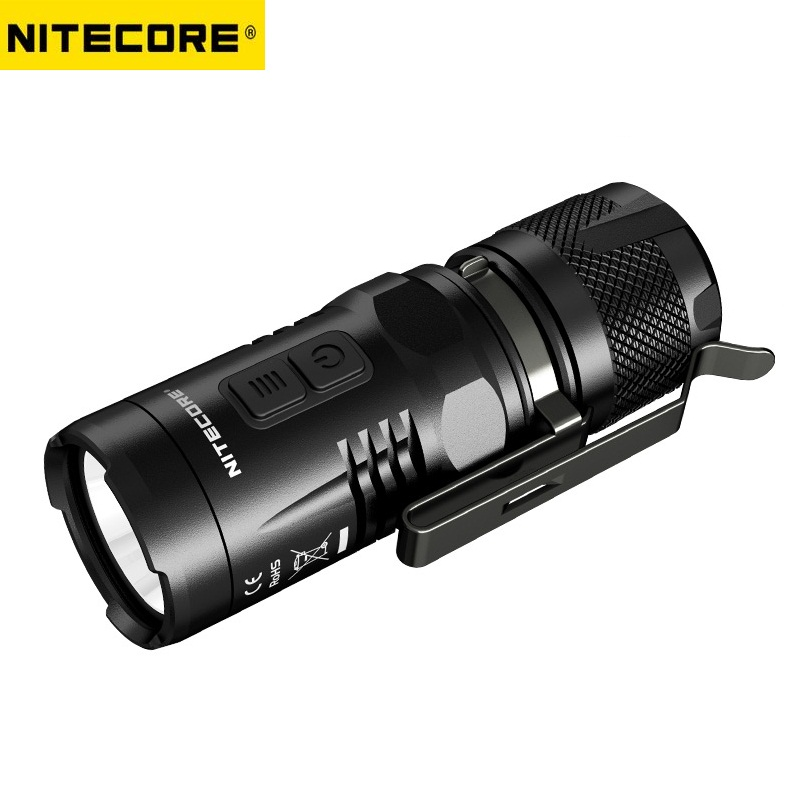 Nitecore EC11 CREE XM-L2 U2 900Lumens White and Red LED Flashlight by 18350 Rechargable Battery Tactical Flashlight for Camping nitecore mt10a tactical flashlight edc cree xm l2 u2 920 lumens led mini torch with red white light by 14500 aa battery