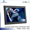 Metal Shell 10 Inch DC12V Lcd Vga With Hdmi Input Advertising Monitor
