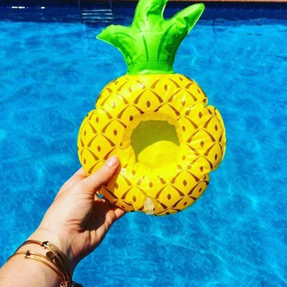 1 Pcs Inflatable Drink Cup Holders Mini pineapple Unicorn Birthday Party Supply summer Swimming Pool Toys
