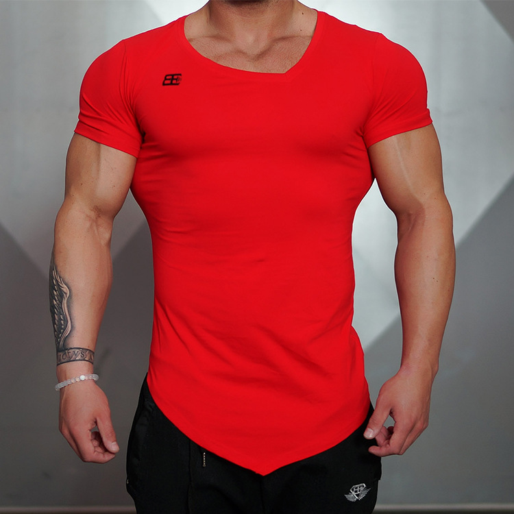 6287344d874 2017 Summer Fashion Brand T Shirt Mens Gyms Clothing V neck Short Sleeve  Slim Fit T Shirt Ftiness Men compression Tshirt homme-in T-Shirts from Men s  ...