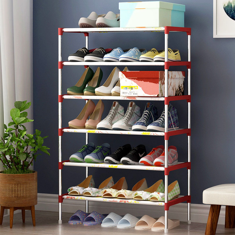 7 Layers Shoe Rack Non-woven Galvanized steel pipe shoe cabinet shoe organizer removable shoe storage for home furniture