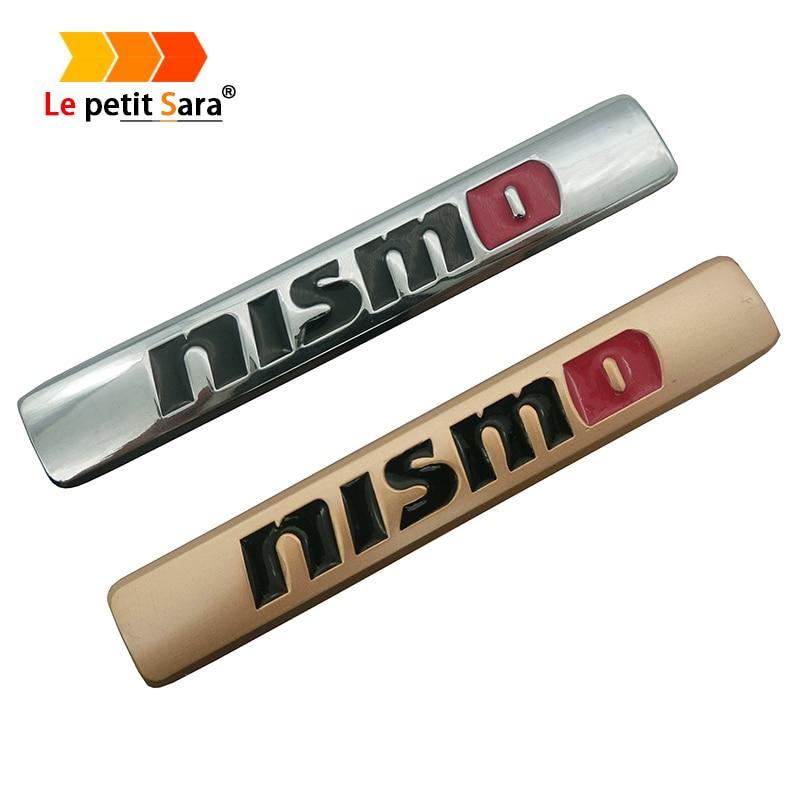 1PC 3D Metal NISMO Auto Car Nismo Badge Emblem Decal Sticker For Nissan Qashqai X-Trail Juke Teana Tiida Sunny Note Car Styling