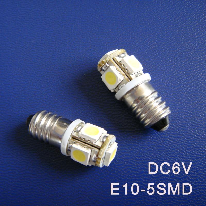 High quality DC6.3V 6V E10 Led Warning Signal Indicating Lamp Pilot lamp Instrument Light pinballs Bulbs free shipping 20pcs/lot
