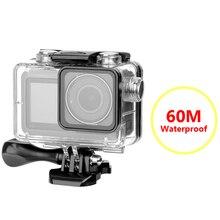 DJI OSMO Eylem Kamera 60M su geçirmez muhafaza Kılıf Eylem Kamera Aksesuarları Yüzen Sualtı Koruyucu Kutu