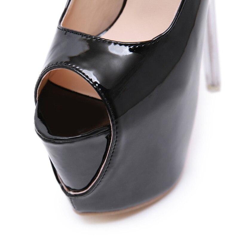 À Femme Deleventh Nouvelle Femmes Cm Stilettos Sandales Noir Chaussures Peep Pompes Talons De 18 Extreme D'eau Toe Hauts Mode OX8knw0P