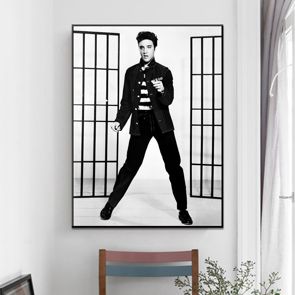 Unframed Canvas Painting Classic Dancer Elvis Presley Print Painting Poster Wall Picture For Living Room Home Decor Dropshipping