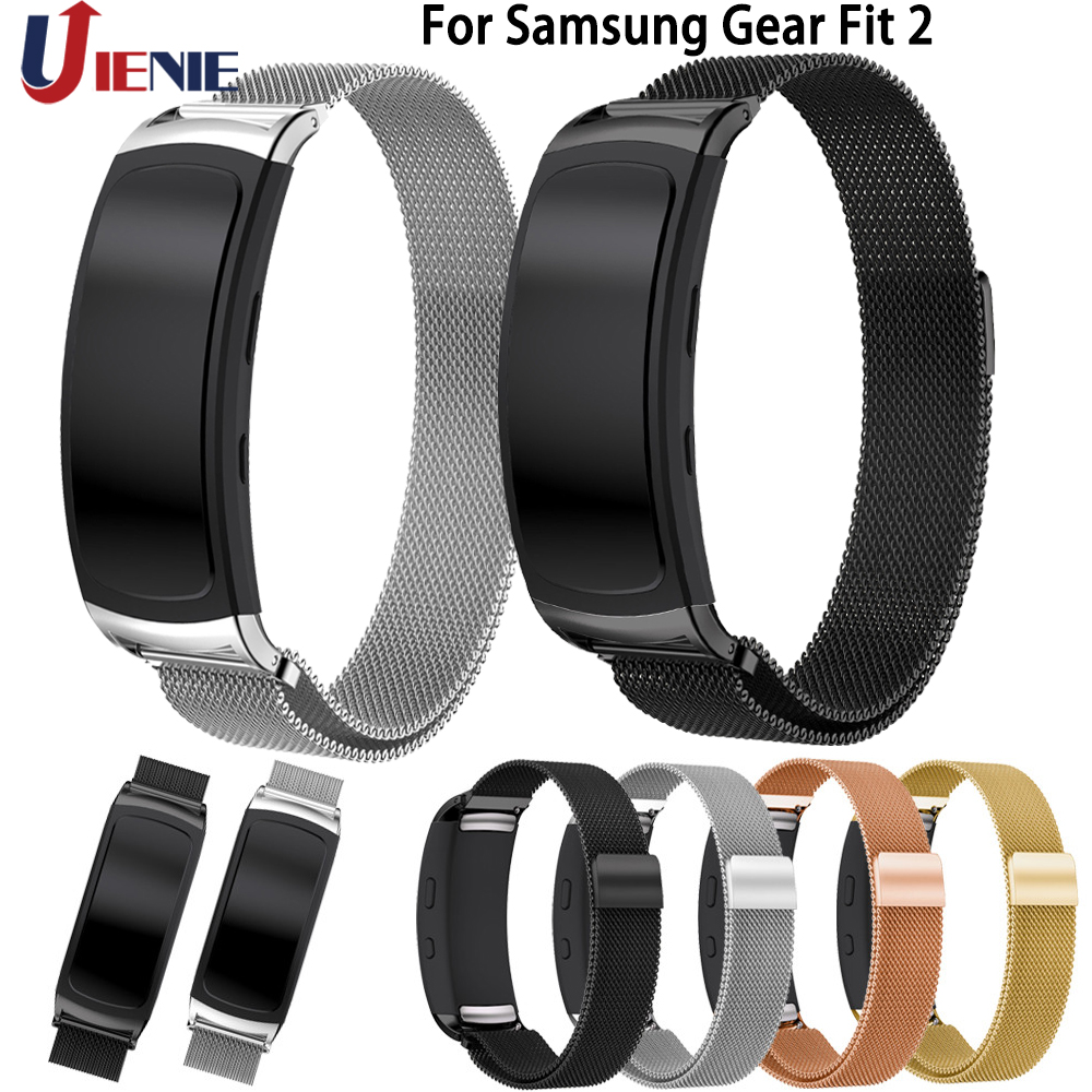 Watch Band Straps Bracelet For Samsung Gear Fit 2 Fit2 Pro SM-R360 Smart Watch Band Milanese Stainless Steel Wristband Straps