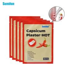 40 Pcs / 5 Tas Sumifun Capsicum Plester-Hot Nyeri Leher Bahu Nyeri Perawatan Kesehatan Medis Patch Tubuh Pijat D0655