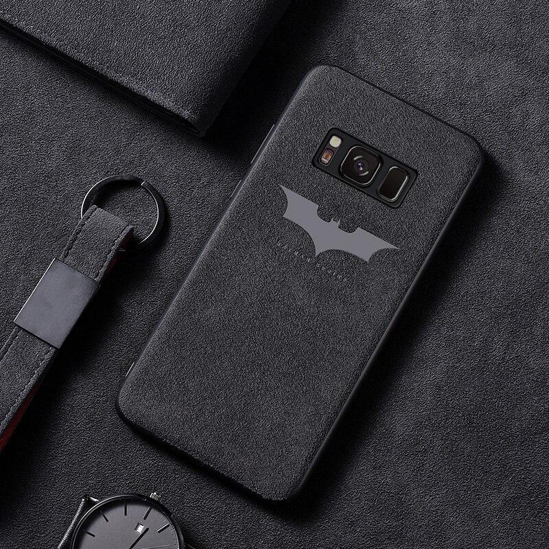 Luxo batman virar pele caso de telefone para samsung galaxy s8 s9 s10 e 5g mais nota 10 9 8 ultra-fino capa de couro do carro funda coque