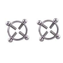 1 Pair Stainless Steel Nipple Rings Shields Screw Jewelry Adjustable Circle Women Body Piercing Breast Adijustable Ring