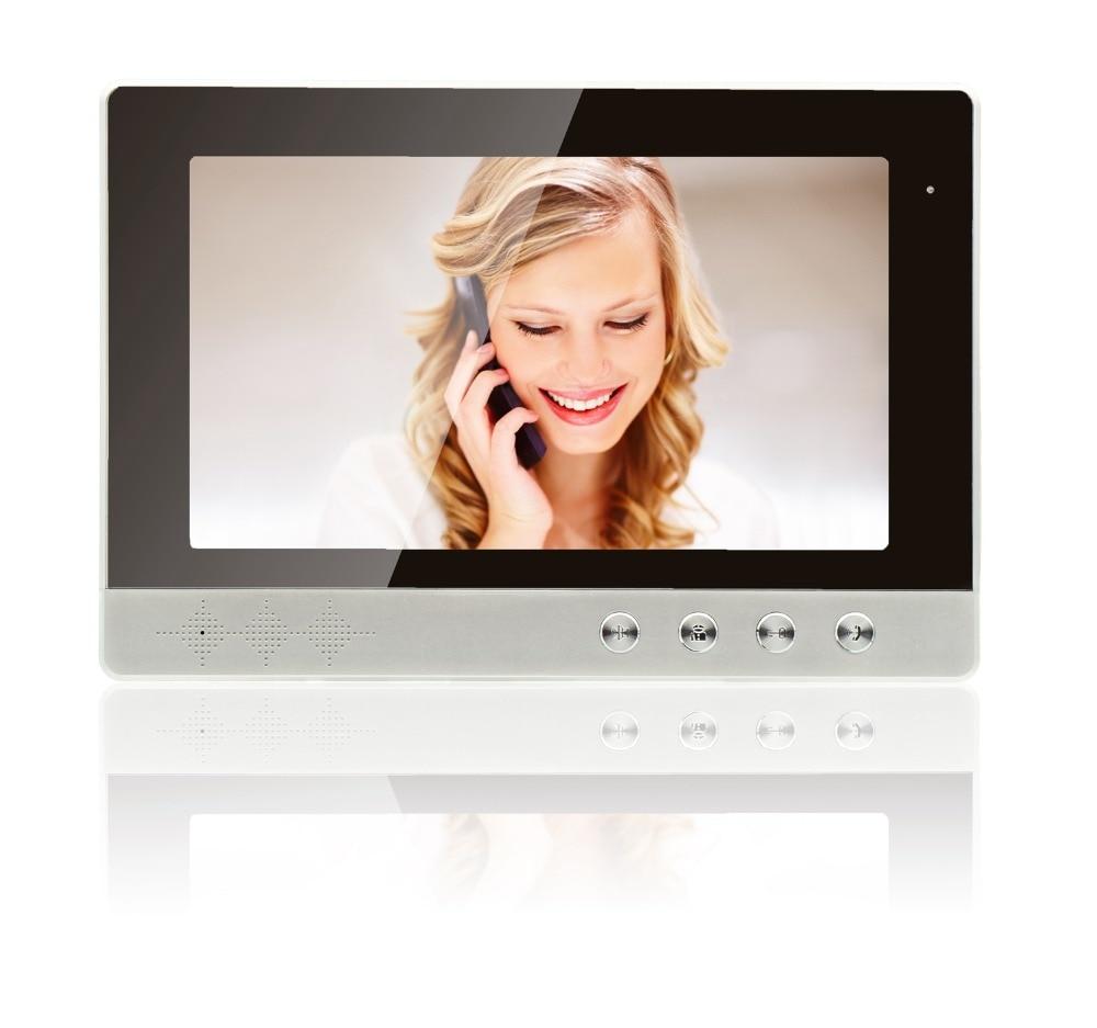10 Inch Unlock Door LCD Display For  Wired Intercom Video Door Phone Without Camera