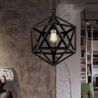 الرجعية الصناعي البلاد الأمريكي الحديد المطاوع الثريا الإبداعي شخصية متعدد السطوح الماس الثريا الهندسة أضواء قلادة مصابيح وإضاءات -