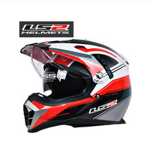 Free shipping ls2 off-road helmet MX455 Dual airbags lens motorcycle helmet full helmet off-road helmet / special white storm
