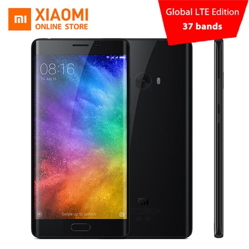 Цена за Глобальный издание xiaomi mi note 2 премьер 6 ГБ ram 128 ГБ мобильный телефон Snapdragon 821 Quad Core 5.7 дюймовый Отпечатков Пальцев ID NFC 22.56MP cam