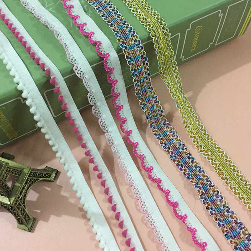 5yards/Lot Flat Thin Wide Elastic Rubber Band Clothing Accessories Nylon Webbing Garment Sewing Accessories Elastic Band