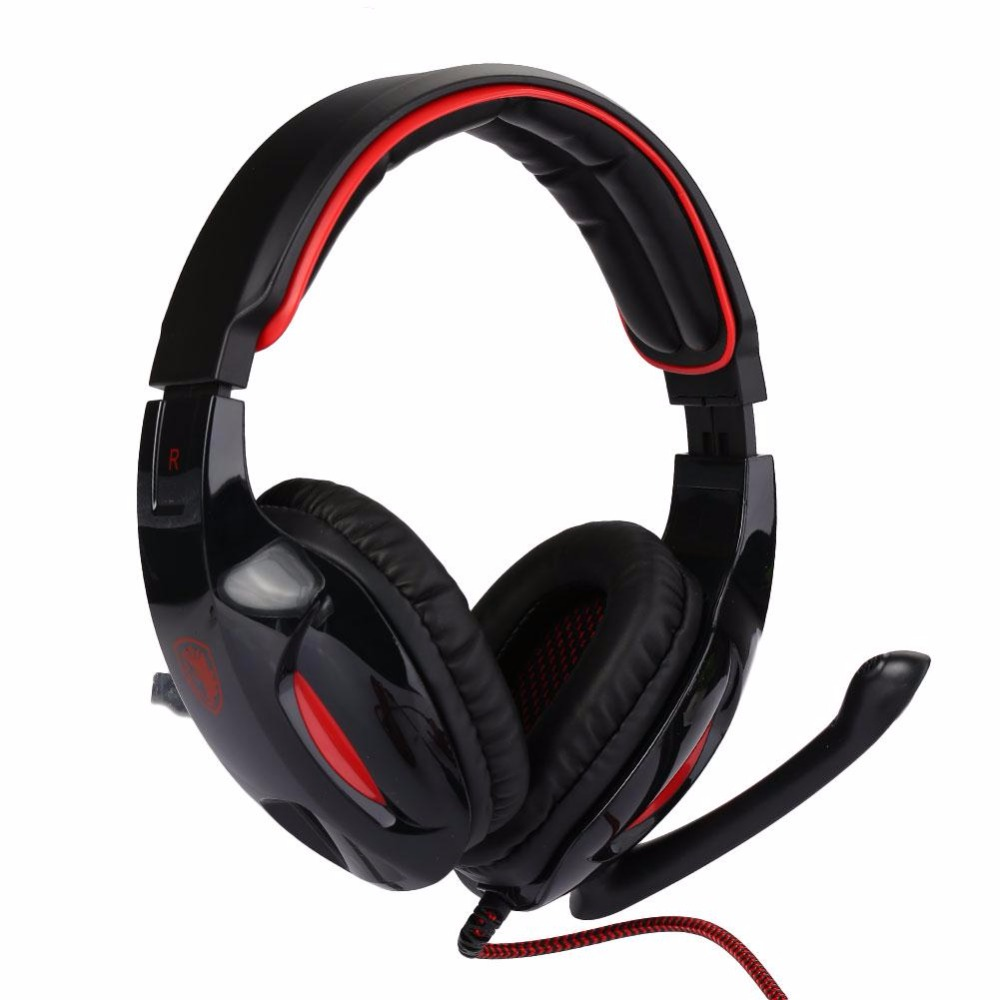 SADES SA-902 USB 7.1 Surround Sound stereo Gaming headset headband over-ear headphones with Mic and volume control for PC Gamer