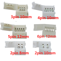 2pin 3pin 4pin 5pin 6pin led connector Clip, for 5050 3528 3014  WS2812b LED single color/ RGB RGBW RGBWW Strip light