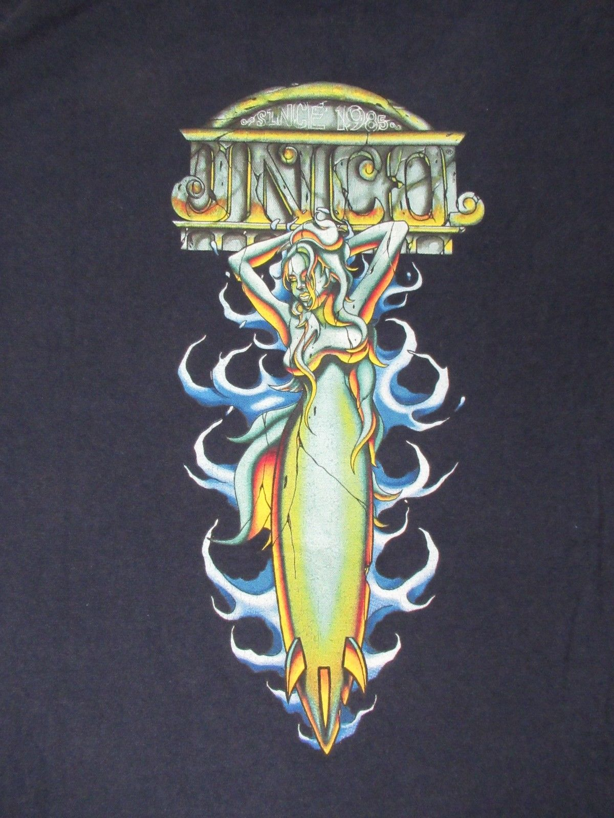 VINTAGE - JNCO JEANS SEXY SEA WITCH BURSTING OUT OCEAN -LARGE BLUE T-SHIRT Mens Hipster Short Sleeve Tee Tops ...