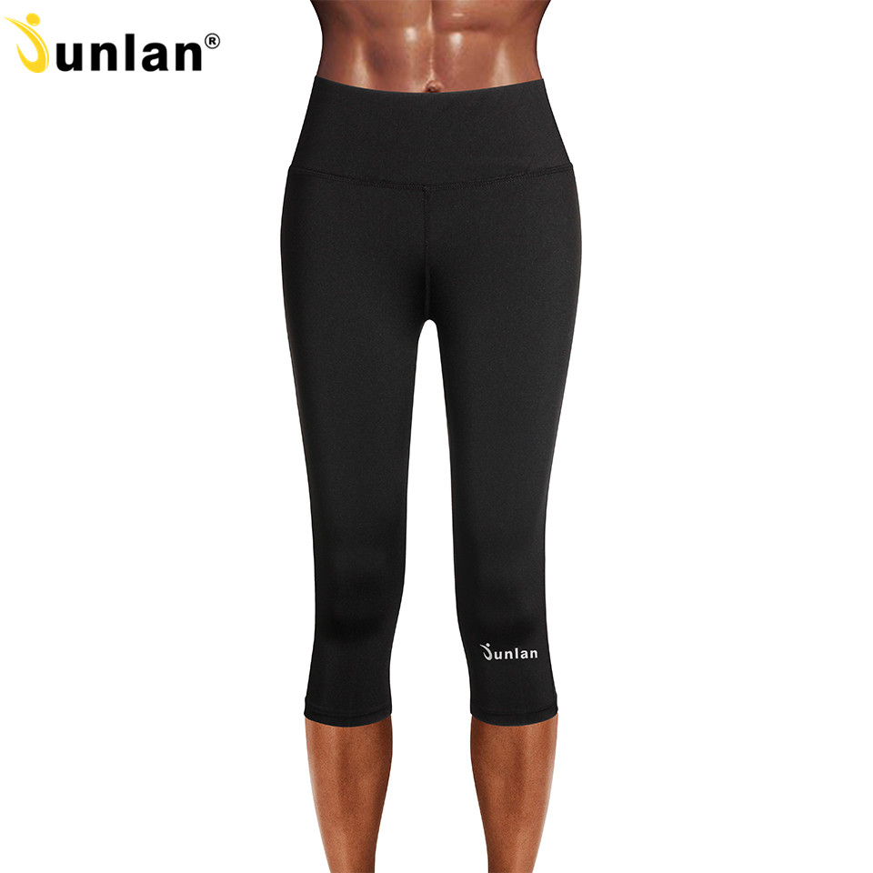 da04ff68a1 Junlan Slimming Shaper Women Control Pants High Waist Bottom Shapewear  Elastic Workout Trousers Sweating Sauna Suit for Reducing