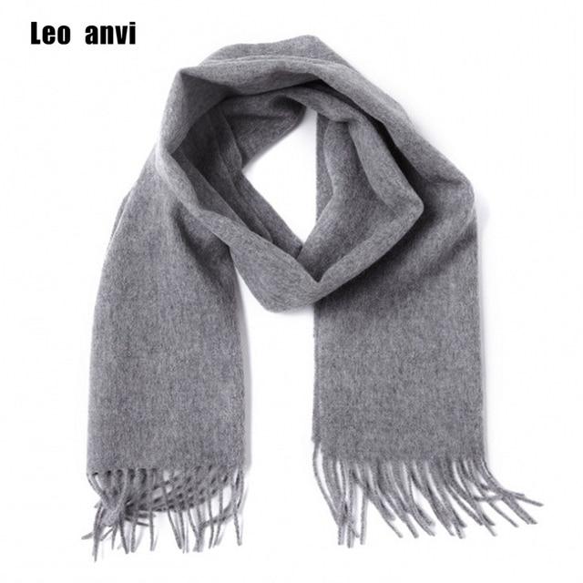 3e340e671262d Leo anvi 100% laine cachemire hiver écharpe pour hommes femmes mode châles  echarpe mâle haute