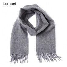 Leo anvi 100% lana bufanda de cachemir para el invierno para los hombres de la moda de las mujeres chales echarpe hombre sólida de alta calidad bufandas otoño bandana