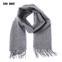 Leo anvi 100 wool cashmere winter scarf for men women fashion shawls echarpe male High quality