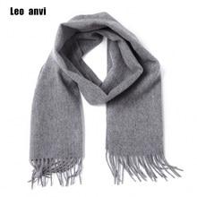 Leo anvi 100% wool cashmere winter scarf for men women fashion shawls echarpe male High quality solid scarves Autumn bandana