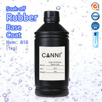 818 CANNI Rubber Base Coat 1000g Nail Art Salon Manicure Super Quality UV LED Paint Gel