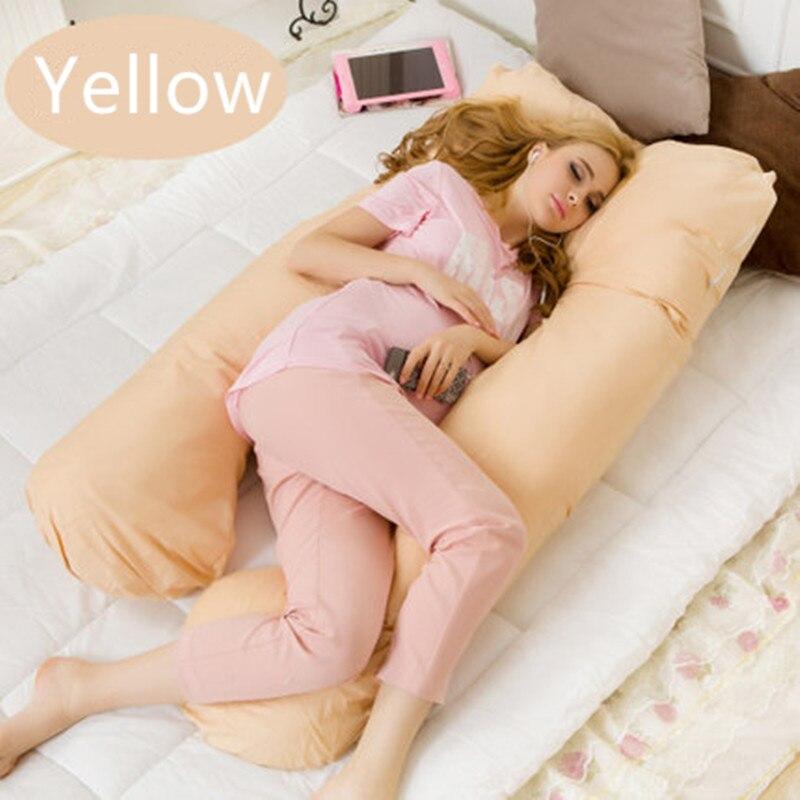 130*70 cm U embarazo almohadas cómodas maternidad cinturón carácter almohada de embarazo mujeres embarazadas Side Sleepers cojín