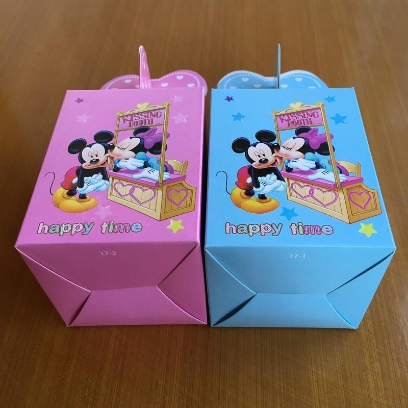 Minnie Mouse Baby Shower Party Favors: 100pcs Wedding Candy Box Baby Shower Minnie Mickey Mouse
