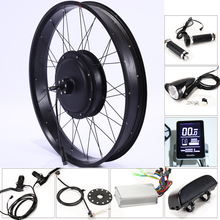 цена на E Bike Electric Bike Kit Motor Wheel 48V 500/1000W 26*4.0 inch Electric Bicycle 10/13AH Conversion Kit ebike mountain fat bike