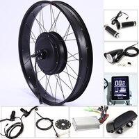 E Bike Electric Bike Kit Motor Wheel 48V 500/1000W 26*4.0 inch Electric Bicycle 10/13AH Conversion Kit ebike mountain fat bike