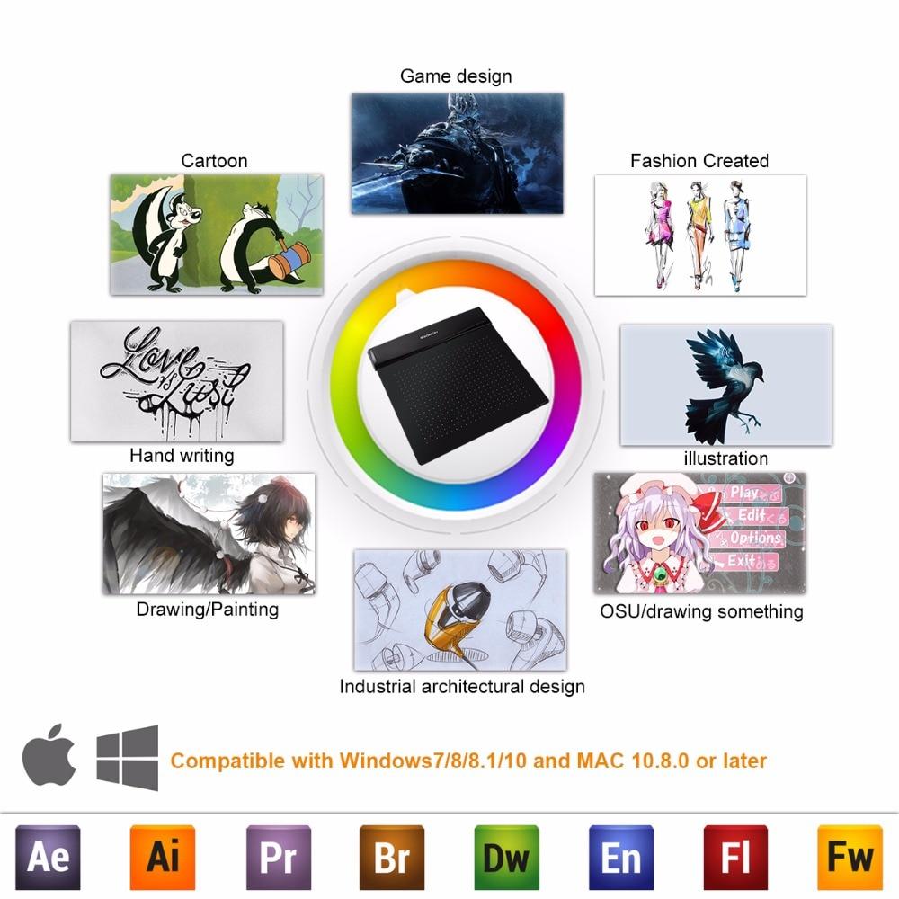Brand New GAOMON S56K Black Graphic Pen Tablet Diseño flexible - Periféricos de la computadora - foto 6