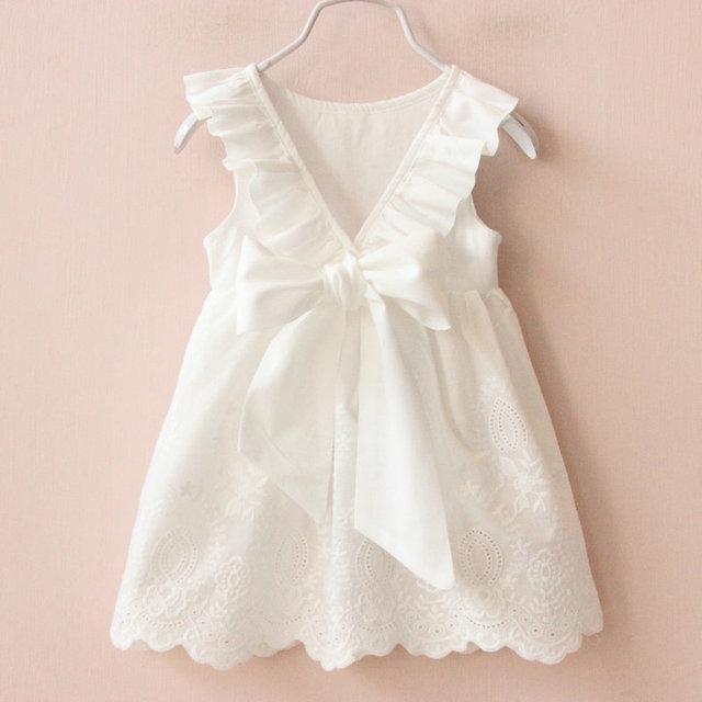 2017 Verano Nueva Princesa niños Vestido de la Muchacha Grande Del Arco Vestido de La Muchacha vestido de Ropa de Niños Niñas Vestido Infantis