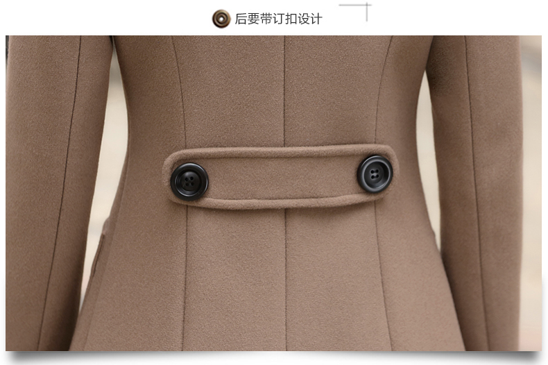 Outerwear Overcoat Autumn Jacket Casual Women New Fashion Long Woolen Coat Single Breasted Slim Type Female Winter Wool Coats 14