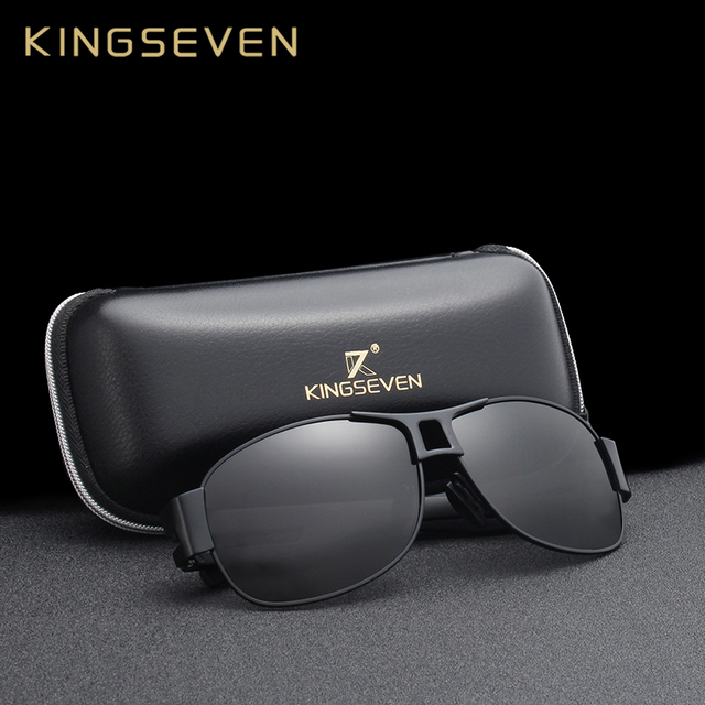 KINGSEVEN Men Classic Brand Sunglasses Luxury Aluminum Polarized Sunglasses EMI Defending Coating Lens Male Driving Shades N7806 1