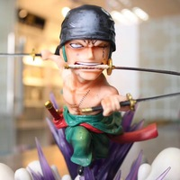 19cm GK Anime One Piece PT series Roronoa Zoro PVC Action Figure Collection Model Toy for gift